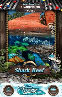Walt Disney World Planning Pins: Shark Reef