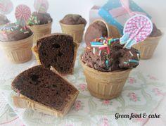 Muffin in cialda...il muffin che si crede un cono gelato!