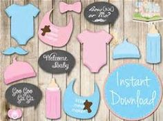 free baby shower photo booth props - Bing Imágenes