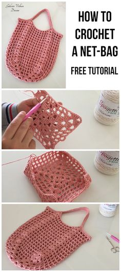 Crochet Market Bag, Crochet Tote, Crochet Handbags, Crochet Purses, Diy Crochet, Crochet Crafts, Crochet Stitches, Crochet Baby, Crochet Projects
