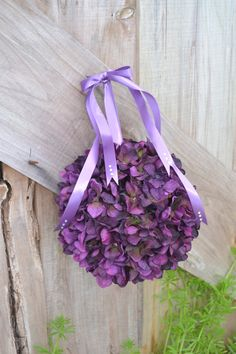 Pretty purple Flower Girl Kissing Ball Pomander by MyDayBouquet Pink Purple Wedding, Purple Flower Girls, Kissing Ball, Renewal Wedding, Purple Reign, Purple Hues, Bridal Flowers, Color Of The Year, Pantone Color