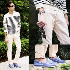J. Crew Sweater, !Item Denim Pants, Sperry Boat Shoes