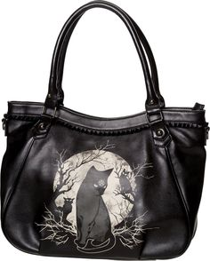 d661709c1d42 Banned Apparel Hecate in Full Moon Gothic Bag. Black PU shoulder bag with  zip fastening main compartment