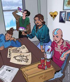 By artistrogerwitt on Tumblr Team Avatar, Korrasami, Legend Of Korra, My Hero Academia Manga, Avatar The Last Airbender, Anime Shows, Family Guy, Fan Art, Photo And Video
