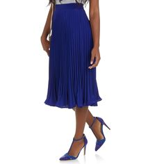 edit Pleated Skirt Cobalt | spree.co.za