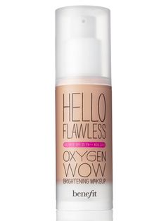 Benefit Hello Flawless Oxygen Wow Foundation    I never pin things like this...but i LOVE this stuff!    If your looking for a light feeling, decent coverage foundation that is FANTASTIC for dry skin...here is your winner.   Its amazing!