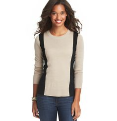 Colorblocked Crew Neck Sweater | Loft $49.50 in small
