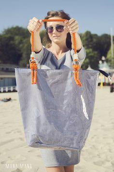 Umhängetaschen - Mana Neon Marynarska - ein Designerstück von MANA-MANA-BAGS bei DaWanda