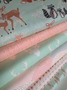 Hello Bear fabric bundle by Bonnie Christine, Deer Fabric, Art Gallery Fabric…