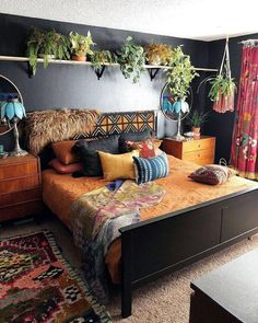 Bohemian Bedroom Decor And Bed Design Ideas… – decoracion – Home Decor Ideas Bohemian Bedroom Design, Bohemian House, Modern Bohemian, Bohemian Bedrooms, Hippie House Decor, Gypsy Home Decor, Bohemian Apartment, Hippie Bohemian, Homemade Home Decor