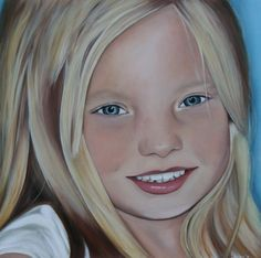 Painting, Sarah, portret, 100 x 100 cm, At request, Facebook: Shirley's art