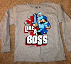 Minecraft Shirt boys clothing NEW Minecraft Clothes, Minecraft Outfits, Minecraft Pictures, Boy Fashion, Fashion Outfits, I Love My Son, Like A Boss, My Size, Auntie