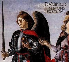 Leonardo por Francesco Botticini, em Tobias e os Três Arcanjos (1469-70). texto bem bacana falando da aparencia de Leonardo quando jovem: https://www.facebook.com/photo.php?fbid=497863293679833&set=a.303590299773801.1073741832.303095999823231&type=1&relevant_count=1