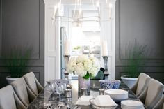 AMERICAN DREAM BUILDERS - COLONIAL STYLE - AFTER - DINING ROOM - This week I was teamed up with Elaine, we rocked it! The style guid for this transformation was Classic Elegance. We added moldings, character, eclectic choice of furniture but at the end we made it new and fresh. #DreamBuilders #NateBerkus #LukasMachnik www.LukasMachnik.com