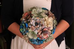 Paper flowers bouquet, Map flowers sheet music flowers and unique by CraftingbyKnight, $120.00