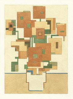 aquarelles pixellisees 8 bit par adam lister tournesol van gogh   Les aquarelles pixellisées de Adam Lister   Walter White superman starwars...