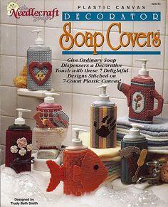 Decorator Soap Dispenser Cover Plastic Canvas by grammysyarngarden, $5.00