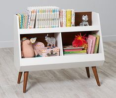 There are bookcases galore at The Land Of Nod. We've found several super stylish shelving options perfect for little libraries and for holding treasures.
