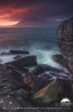 Loch Scavaig sunset from Elgol, Isle of Skye, Scotland.