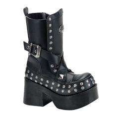 PLATOON-205 Chunky Heel Platform Boots, dang it, I love these