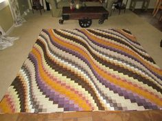 Amazing bargello quilt by David McFarling on Etsy.