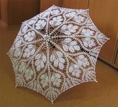 Crochet white umbrella ♥LCU-MRS️♥ with diagram.