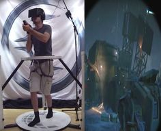 Gameplay Aliens: Colonial Marines Co-Op Mode in VR. Cyberith Virtualizer + Oculus RIFT Credits:Cyberith;SEGA