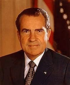 Richard Nixon, 37th President ~ 1969-1974.  Inherited the Vietnam War.  Resigned from office due to the Watergate scandal.