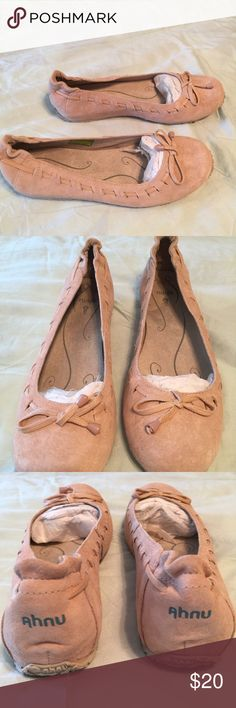 """Anhu 8 tan shoes 7.5 These are """"arabesque"""" rugby tan shoes and are brand new and never worn. Size 7.5 Anhu 8 Shoes Flats & Loafers"""