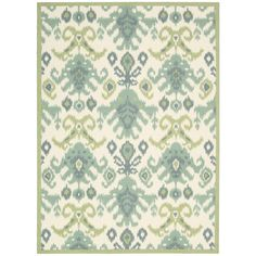 Nourison Vista Ivory/Green Area Rug & Reviews | Wayfair