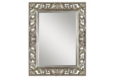 Greene Wall Mirror, Silver Leaf