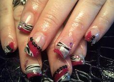 Hot Pink and Zebra - Nail Art Gallery nailartgallery.nailsmag.com by www.nailsmag.com