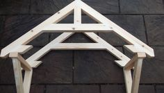 How to build a small portico. Going to obsess on this idea for awhile.