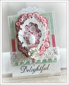 Card created by DT Member Ivana Camdzic using the NEW Winter Fairy Tales collection and WP trim!