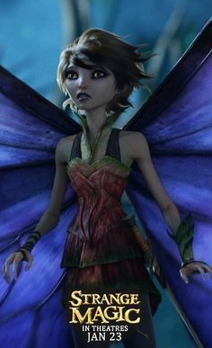 Marianne from Strange Magic - In Theatres January Dreamworks Animation, Animation Film, Disney And Dreamworks, Winx Club, Strange Magic Movie, Fairy Clothes, Secret Life Of Pets, Faeries, I Movie