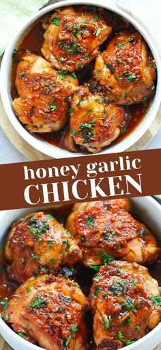 Shredded Chicken Recipes, Grilled Chicken Recipes, Baked Chicken Recipes, Crockpot Recipes, Cooking Recipes, Cooking Tips, Healthy Recipes, Honey Garlic Chicken, Bbq Chicken
