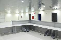 Le postazioni sono situate davanti alle sale di attesa e vicino ai servizi infermieristici così da garantire immediato intervento in casi di emergenza. #ospedale #ASLBI
