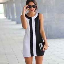 Sexy Womens Lady Summer Casual Sleeveless Cocktail Evening Party Mini Dress