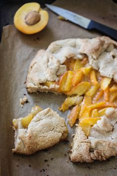 whole wheat apricot crostata