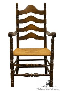 Ethan Allen Antiqued Pine Old Tavern Ladderback Dining Arm Chair W. Dining Arm Chair, Dining Room Furniture, Side Chair, Pine Furniture, Modern Furniture, Furniture Design, Long Driveways, Ladder Back Chairs, Cafe Chairs