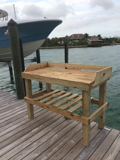 Fish Cleaning Table/ I'd like to build a table like this for fish and small game cleaning. Maybe put a sink with Water hose attachment on it.