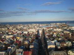 View from the top of Hallgrimskirkja, Reykjavik, Iceland