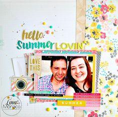 Sweet Nothings Paper Co.: 12x12 Layout: Hello Summer Lovin'