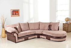 ' DALLAS CHAISE CORNER '  beige brown fabric sofa set. BRAND NEW.  * High density foam for superior comfort.  * MASSIVE CLEARANCE SALE.  * Designed to suit modern lifestyle.  * The modular range offers maximum style and design flexibility.  * Contemporary and traditional ranges available at cost effective prices.  * Easy assembly.  * Minimal assembly time.   * Fast delievery.  * Available in Many fabric materials and colours.