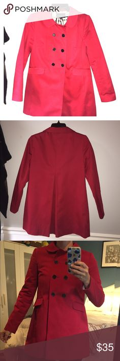 Red Banana Republic Jacket Red Banana Republic Jacket. Cotton & lightweight. Looks great buttoned or unbuttoned Banana Republic Jackets & Coats Trench Coats