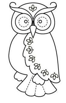 Owl applique for quilt