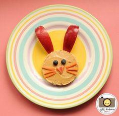 Peanut butter bunny #Bunny #Paashaas #Easter #Pasen #eten #kinderen