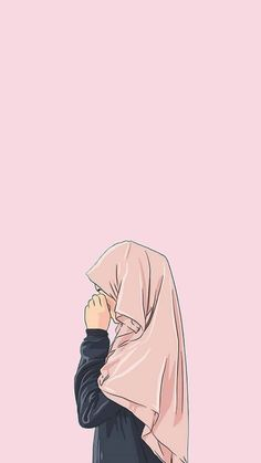 Cartoon Wallpaper, Cute Wallpaper Backgrounds, Cute Wallpapers, Cartoon Kunst, Cartoon Art, Art And Illustration, Cover Wattpad, Muslim Pictures, Hijab Drawing