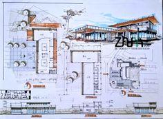 筑雅手绘暑期建筑快题特训学员作品 Concept Models Architecture, Architecture Presentation Board, Architecture Board, Architecture Design, Architecture Drawing Sketchbooks, Landscape Architecture Drawing, Landscape Design, Sketch Design, Layout Design