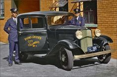 Columbus, Ohio Police Showing off their new High tech Radio equipped 1932 Ford cruiser.....